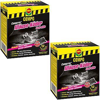 Sparset: 2 x COMPO Cumarax® mice bait cereals, 120 g
