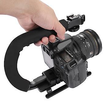 PULUZ U/C Shape Kannettava kädessä pidettävä DV-kiinnikkeen stabilointiaine kaikille SLR-kameroille ja kodin DV-kameralle