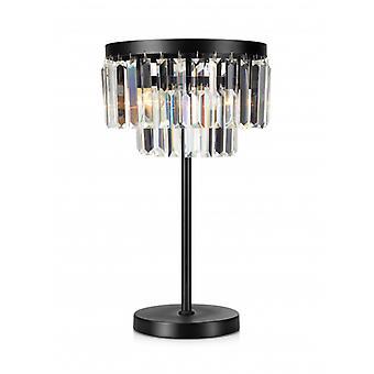Ventimiglia Black Crystal Tischleuchte 3 Leuchten