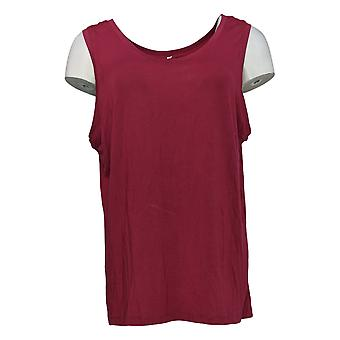 Cuddl Duds Women's Top Softwear Stretch Reversible Tank Red A293078