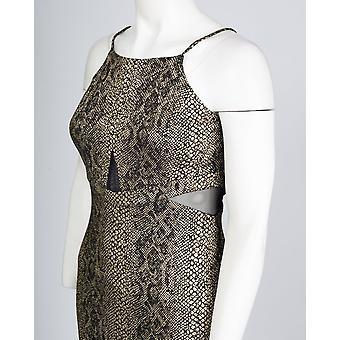 Hayvan Folyo Baskı Bodycon Elbise