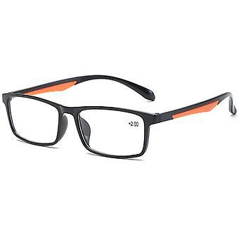 Ahora Reading Glasses Tr90, Ultralight Retro Resin Clear Lens  Reader Glasses