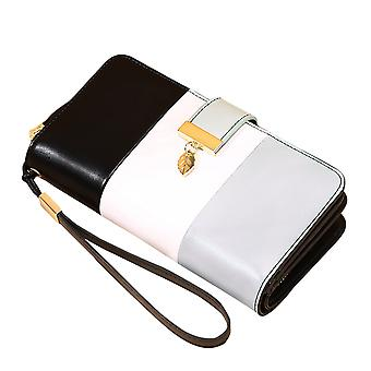 YANGFAN Womens Contrasting Color Stitching Wallet