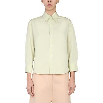 Jil Sander Jsps600005ws245500338 Women's Green Cotton Shirt
