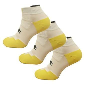 Diadora Mens 3 Pack Trainer Liner Short Socks White Yellow 161219 20002 A93D