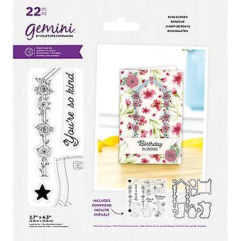Gemini Best Av British Rose Garden Stamp & Dø