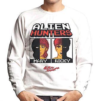 Sega Alien Síndrome Cazadores Alienígenas Mary Y Ricky Men's Sudadera