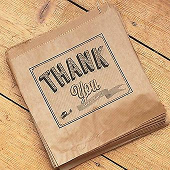 Luck And Luck Kraft Brown 'Thank you Very Much' Bag x 50 - Wedding / Gift