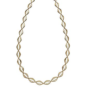 Elements Gold 9ct Open Eye Link Yellow Gold Necklace GN344