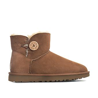 Women's Ugg Australia Mini Bailey Button II Boots in Brown