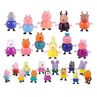 Peppa Pig Action Figur Dolls Familie Far Mor Bedstefar Bedstemor George Peppa
