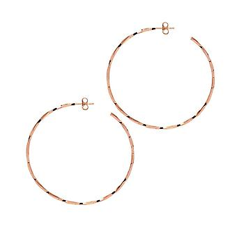 The Hoop Station La LAGO Di COMO Rose Gold Plated 55 Mm Hoop Earrings H136R