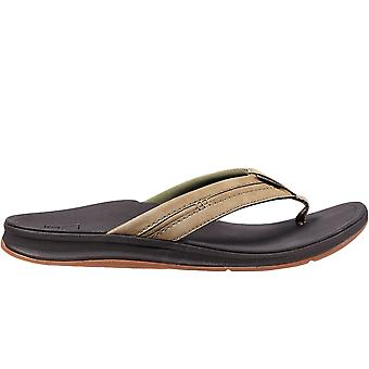 Reef Mens Ortho Coast Summer Beach Holiday Flip Flops Sandals - Brown