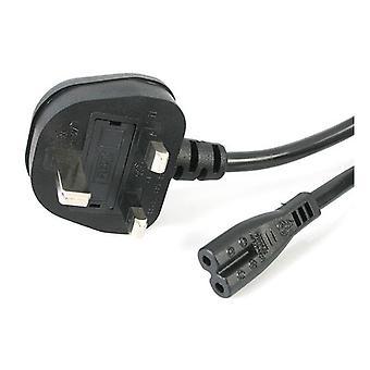 StarTech PXTNB2SUK1M 1m Laptop Power Cable UK BS-1363 to C7 Figure of 8