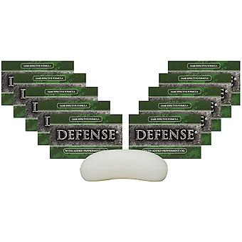 Defense Soap 4 oz. Antimicrobial Therapeutic Body Bar Soap - 10 Pack - Peppermint