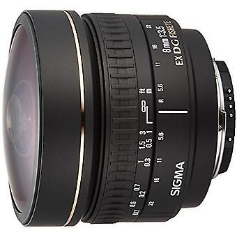 Sigma 8mm f/3.5 ex dg circulaire fisheye objectif fixe pour les caméras nikon slr