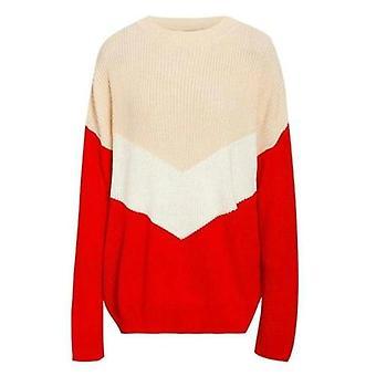 Patchwork Women's Knitting Sweater Loose Stripe Drop Shoulder Sleeve