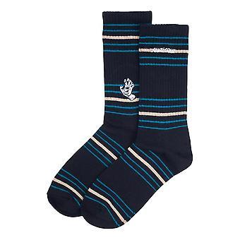 Santa Cruz Mini Mono Hand Stripes Socks - Black Stripe