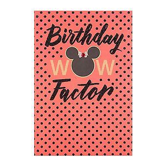Hallmark Minnie Mouse Wow Factor Birthday Card 25479539