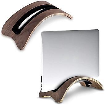 HanFei Vertikaler Stnder fr MacBook Laptop, Holz Schutzhlle Notebook Stnder Halterung mit 4 Soft