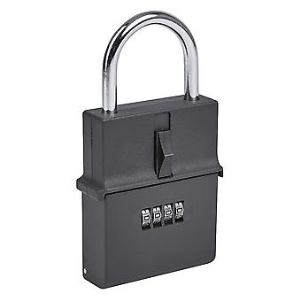 Portable Outdoor Secure Padlock Key Safe - 4 Digit Combination Protected Lockbox
