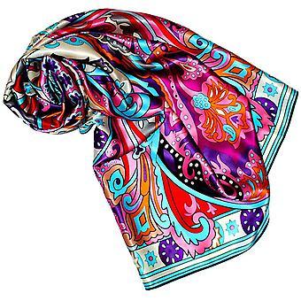 HanFei - Luxus Damen Seidentuch, 100% Seide, XL Satin Tuch Seidensatin 110 cm x 110 cm aufwndig