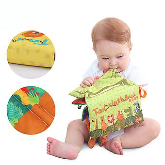 Animal Tail 3d Cloth Book Early Education Interactive Fabric Book