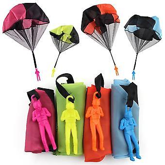 Kids parachute trooper throwing glider  toy