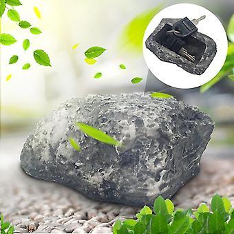 Outdoor Garden Key Box Rock Hidden Hide In Stone Security