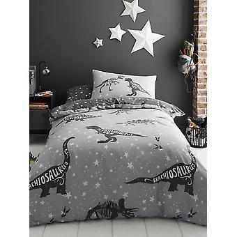 Space T-Rex Single Duvet Cover and Pillowcase Set