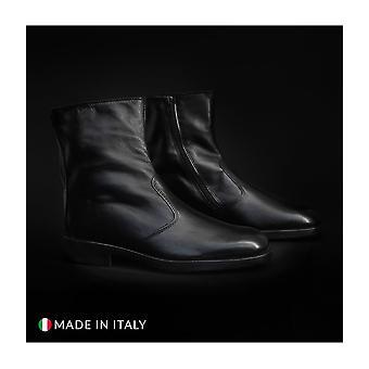 Duca di Morrone - Shoes - Ankle boots - 1000-PELLE-NERO - Men - Schwartz - EU 41