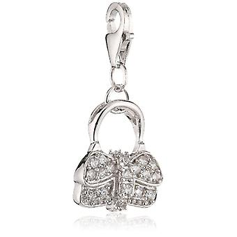 Pasionista Ltext-Pendant Bag with ZIRCONI Bianchi 925 in Sterling Silver 606842(2)