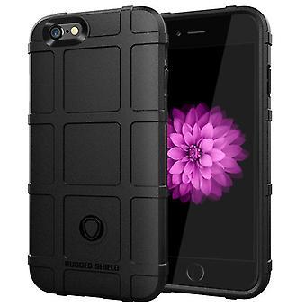 Tpu carbon fibre case for iphone 6 plus black mfkj-1777