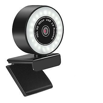 كاميرا ويب عالية الدقة بدقة 5 ميجابكسل/2k/1080p مع كاميرا ويب Led للميكروفون