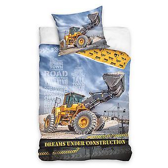 Bulldozer Single Duvet Cover and Pillowcase Set - European Size