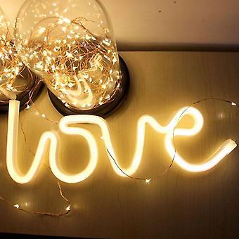 Led neon liefde vorm nachtlampje teken lamp