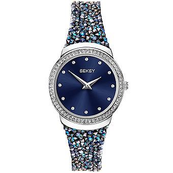 Seksy 40040 Rocks Stone Set Blue Bracelet Ladies Watch