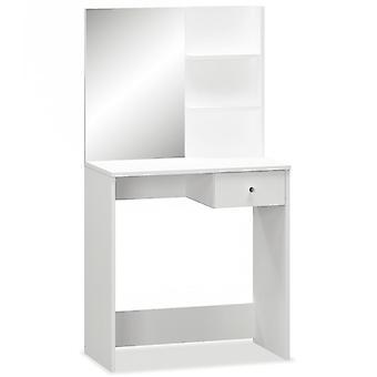 vidaXL Schminktisch Spanplatte 75×40×141 cm Weiß
