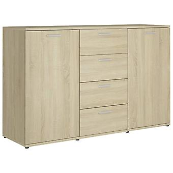 vidaXL Dressoir Sonoma Oak 120×35,5×75 cm Spaanplaat