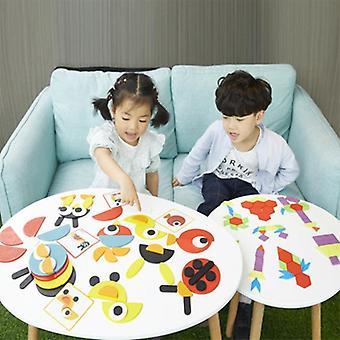 3d Animales Puzzle Niños de madera para juegos rompecabezas creativos Aprendizaje temprano