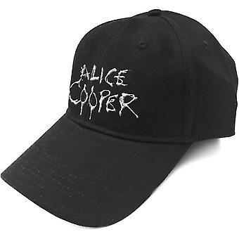 Alice Cooper - Dripping Logo Men's Baseball Cap - Black