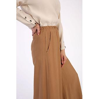 Elastic Waist Pocket Wide Leg Hijab Pants