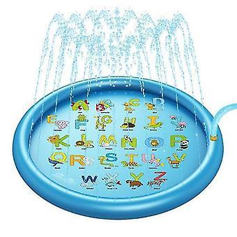 3 az 1-ben Splash Pad, 67in felfújható sprinkler gyerekeknek és kisgyermek medence tanuláshoz (lekerekített betűk)