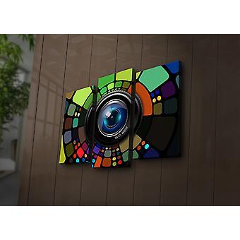 3PAT? ACT-10 Mehrfarbige dekorative LED beleuchtete Leinwandmalerei (3 Stück)