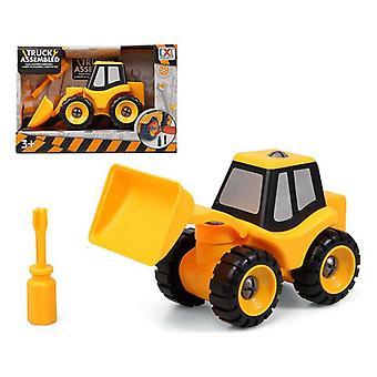 Camión excavador ensamblado 119053 amarillo