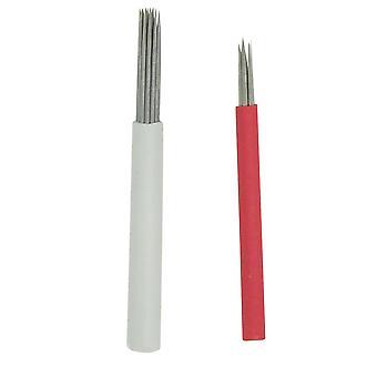 Skygge mikrobladåle Runde pin Fleksibel skygge[17RL,10]