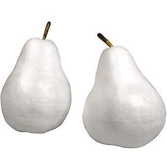 Kaksi styroksi päärynää varret koristeluun - Käsityö