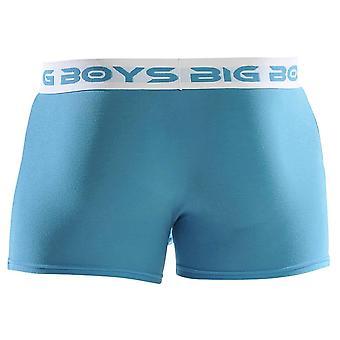 Big Boys Boxer Briefs - Cyan Blue