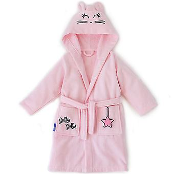 Milk&Moo Rabbit Chancin Toddler Robe, Lasten kylpytakki, 100% Puuvilla Lasten kylpytakki, Erittäin pehmeä ja imukykyinen hupullinen tyttöjen kylpytakki, vaaleanpunainen väri, sopii 2-4 vuotta