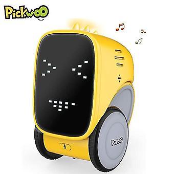 Sprachgestensteuerung Smart Interactive Educational Induction Singing Dancing Robot| RC Roboter(Gelb)